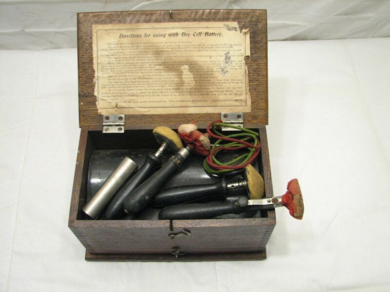 Antique Dry Cell Battery Magneto-Electric Machine Quack Medical Shock Therapy