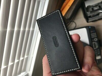 Coach Business Card Holder Display Leather Black