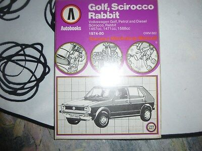 Owners Workshop Manual for Volkswagen Golf, Sciroco, Rabbit 1974-80. Autobooks.