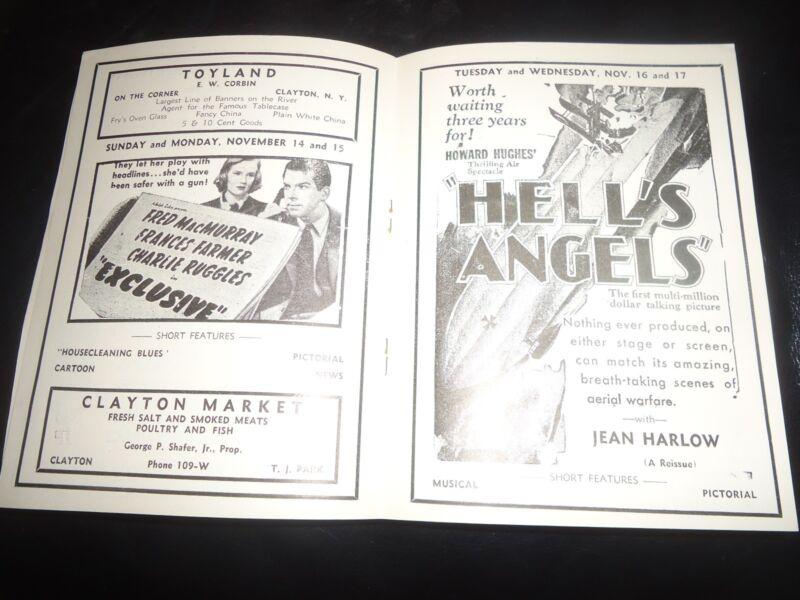 RARE 1937 New York Movie Theater Pressbook Topper, Hell