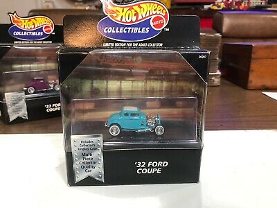 '1932 Ford Coupe Teal 100% Hot Wheels Black Box Collectibles '32 Hot Rod Deuce 32 Ford Coupe Hot Rod