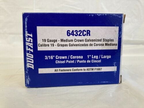 """Duo Fast 6432CR 3/16"""" Crown X 1"""" Staples 5M"""