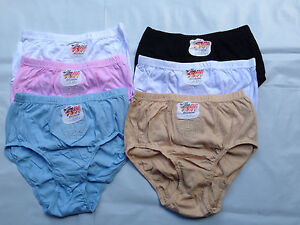 12-Pairs-100-Cotton-Womens-Ladies-Underwear-Full-Brief-Sizes-to-34-mix-colors