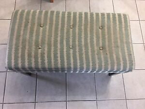Green striped bench