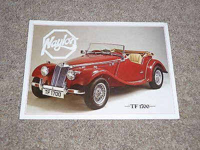 Naylor  TF1700 Brochure  1980's  (MG TF Lookalike)