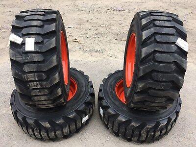 4new 31.5x13-16.5 Skid Steer Tireswheelsrims For Bobcat-for 10-16.5 Floatation