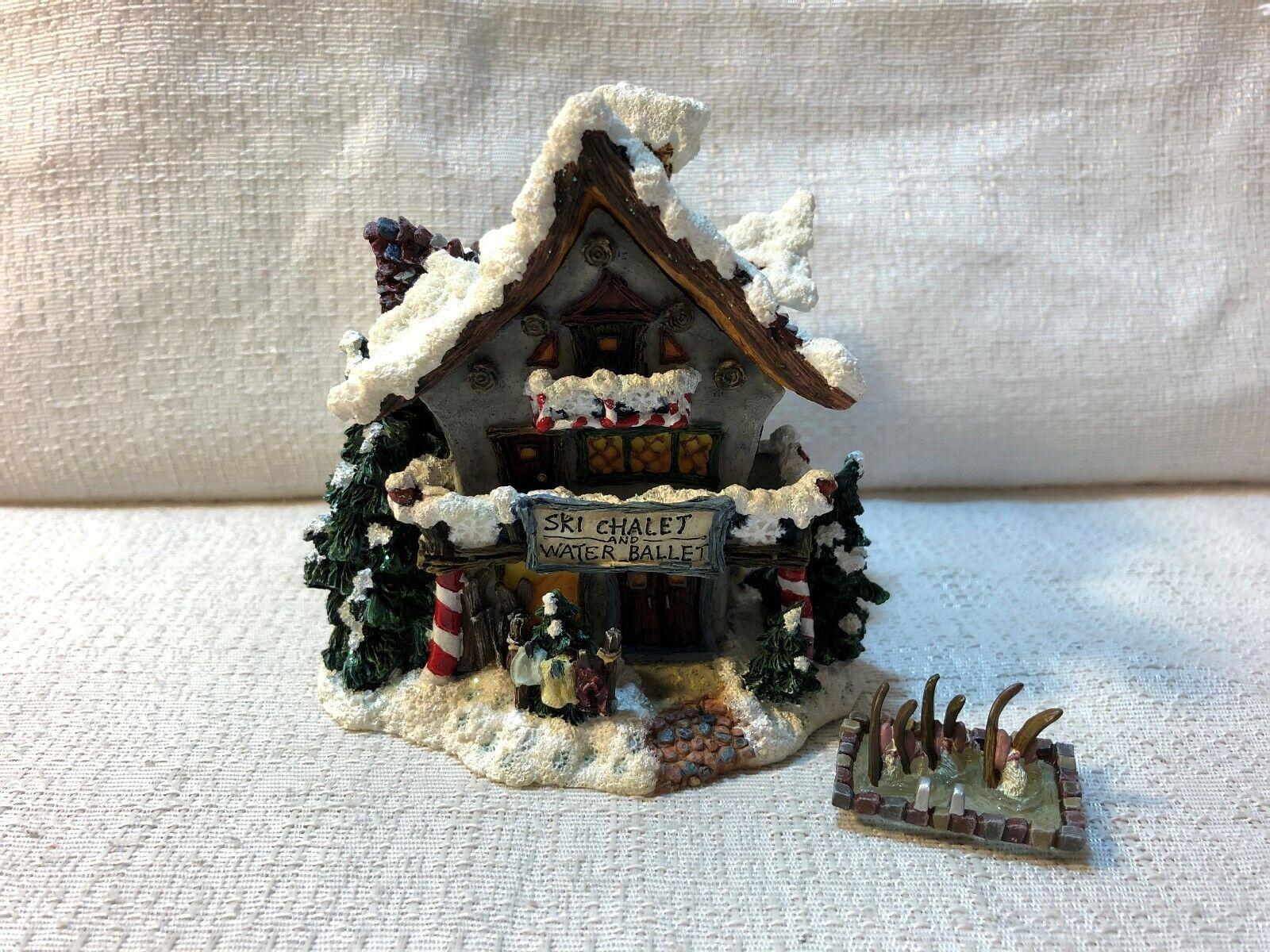 Boyds Kringle Village ORNAMENT-----Mooselfluff/'s Ski Chalet