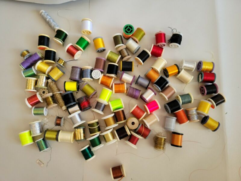 95 Spools of Thread, tinsel.... Fly Tying, Rod Wrapping, Sewing