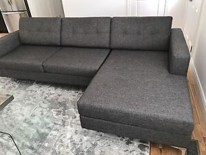 Modern Sectional Sofa with Chaise / has to go.....