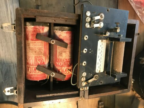 vintage antique quack medical device battery folt amp generator wood box medicin