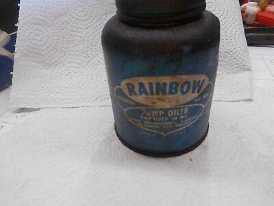 Vintage Eagle Rainbow Pump Oiler Oil Can 10 oz, capacity,usa blue for sale  Lenoir