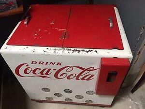 Retro Drink Coke fridge, great talking piece or resto. Man cave. Peterborough Peterborough Area Preview