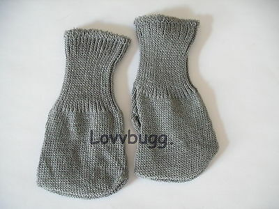 Lovvbugg Gray Socks Doll Clothes for 15-18' American Girl Doll or Preemie Bitty Baby