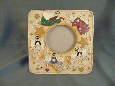 Picture frame Christmas Country Angels 7 1/4