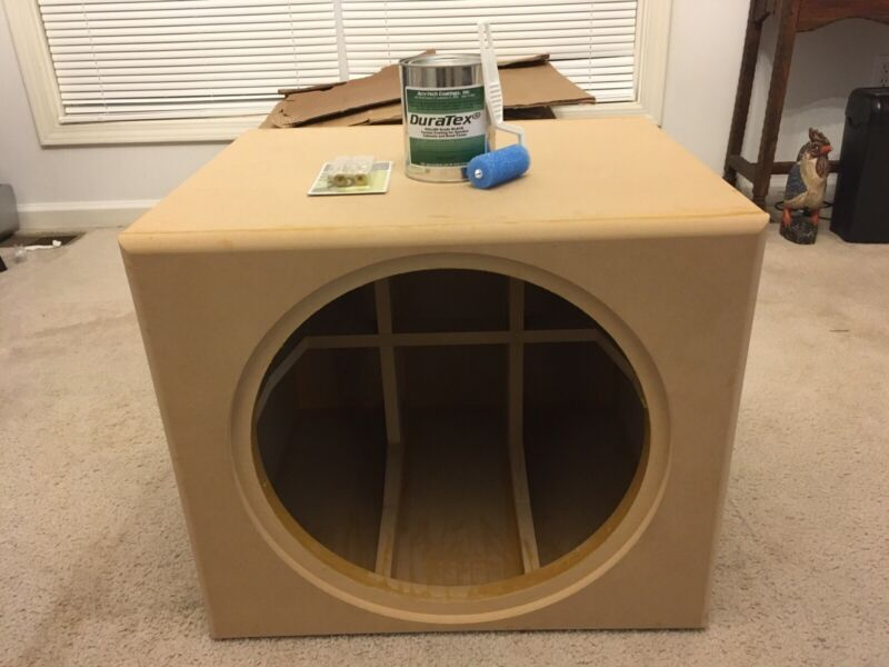 """Sealed Subwoofer Enclosure  4.0 Cu. Ft. Cabinet for Dayton Audio 18""""With Extras"""