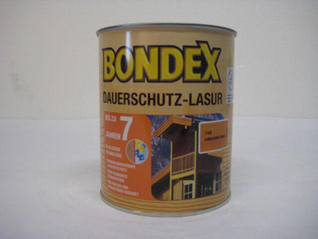 0,75 L Bondex Dauerschutz Lasur Farbauswahl i. Shop (1L/19,80€ inkl. Versa.)