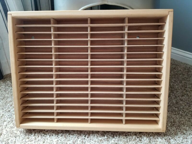 VINTAGE - NAPA VALLEY Wood Cassette Storage Rack/Case/Holder - Holds 64 Tapes