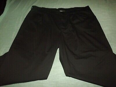 Mens Chef Works Pleated Black Pants Sz 48x25.5 Have Been Shortened