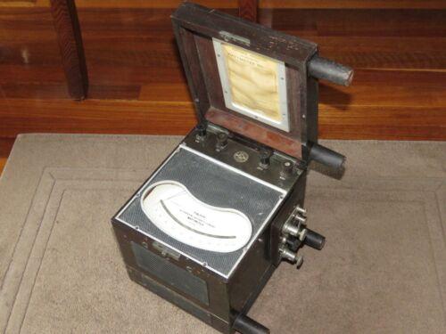 Vintage 1929 Elliott Wattmeter Cased Great Condition - Untested Dynamometer UK
