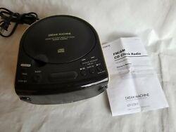 Sony Dream Machine FM/AM CD Aux Dual Alarm Clock Radio ICF-CD815 TESTED & WORKS