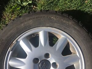 "Pacemark P205/60 R15"" Winter Tires & Volvo Rims"