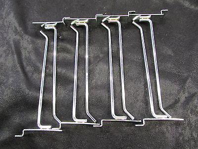 8 Slatwall Metal Peg Hooks Chrome Plated Lot Of 8 Nnb