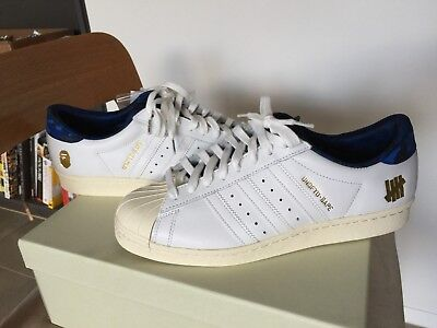 BAPE X Adidas Superstar 80s Blue white 9.5 Undefeated Ultra Boost Gold Camo