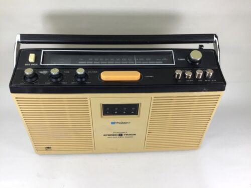 Vintage MacDonald Instruments portable 8 track AM/FM player 8PSR-3000  #895
