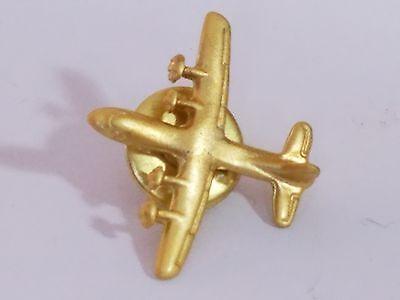 Lockheed C-130 Hercules Aircraft Tie Hat Lapel Pin NEW Gold Color