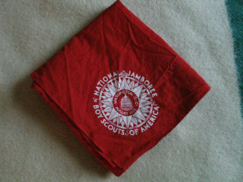 1 Red Full Square 1935 Boy Scout National Jamboree Neckerchief
