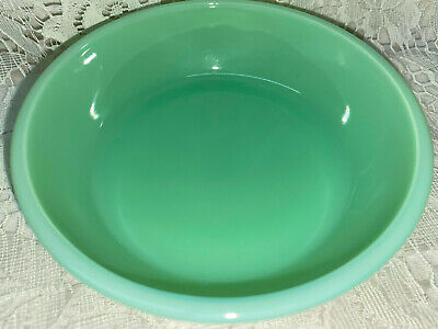 Jadeite green glass soup bowl desert Jade milk restaurant ware cereal jadite set Jade Glass Circle
