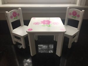 """18"""" Doll Table and Chairs."""