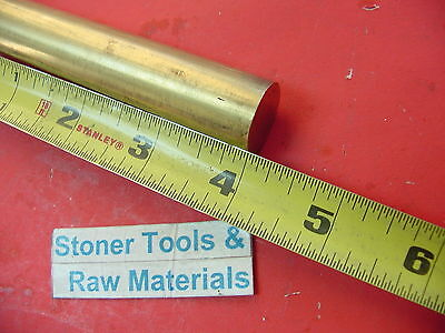 78 C360 Brass Solid Round Rod 4 Long New Lathe Bar Stock .875 H02