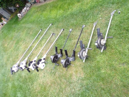 MIXED LOT 4 PAIRS DOWNRIGGERS CANNON MAGNUM 10, DUAL-CRANK 6 PLUS MORE