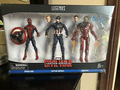 Hasbro Marvel Legends Captain America Civil War 3 Pack