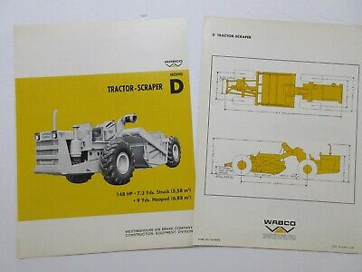 Rare Wabco D Tractor Scraper Sales Brochure 1966