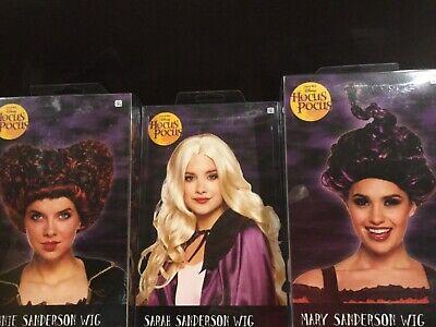 Mary Sanderson Hocus Pocus Costume (Disney Hocus Pocus Winifred Mary Sarah sanderson Halloween adult costume wig)