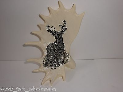Beige Collectible Hunting Deer On Antlers 4.5