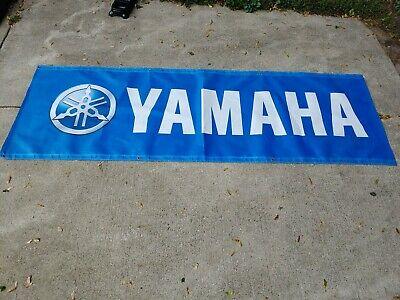 Vintage Large Yamaha Race Track Banner Signs Original Advertising Memorabilia