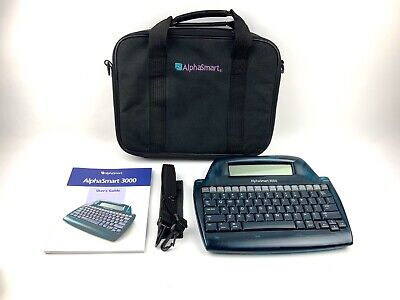Alphasmart 3000 Portable Word Processor With Case. Tested Works