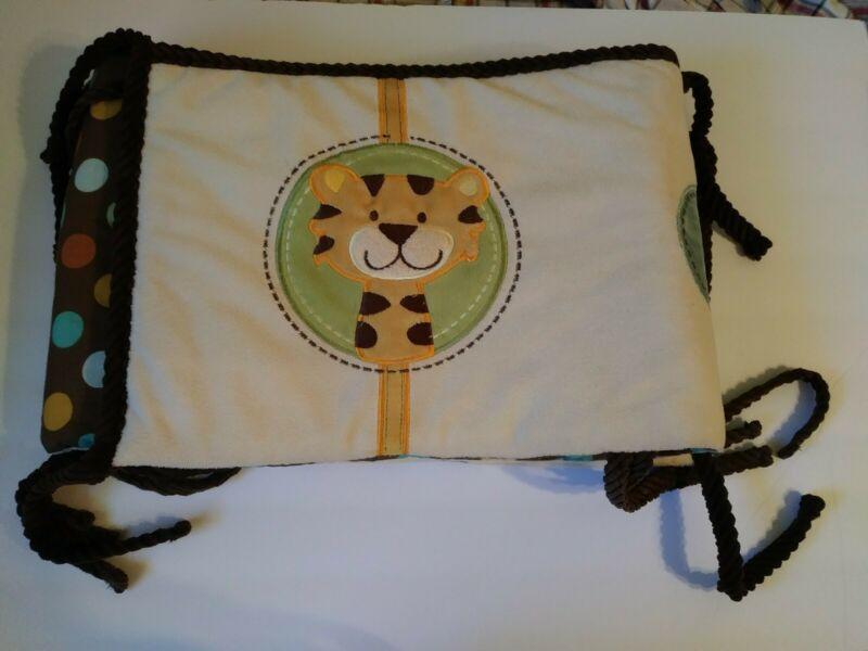 Baby Crib Bumper Jungle Theme Tie On