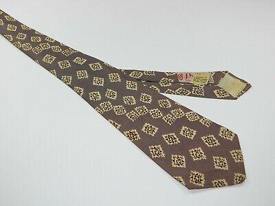 1940s Mens Ties | Wide Ties & Painted Ties Men's Vintage 1940's 30's JACKSON HEIGHTS LONG ISLAND NECKTIE Tie ROCKABILLY  $24.98 AT vintagedancer.com