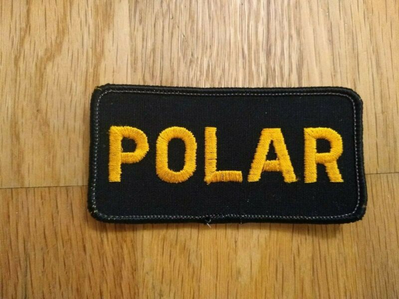 Alaska Polar Patch Black and Gold Vintage