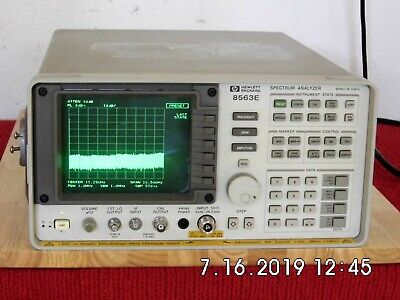Agilent Hp 8563e 9khz To 26.5ghz Spectrum Analyzer Works Fine
