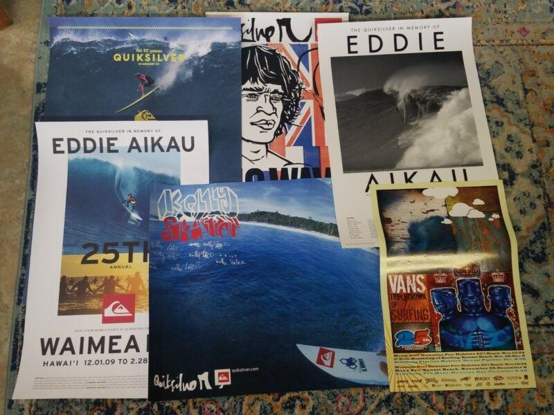 SURFING 6 Poster Lot Eddie Aikau Kelly Slater Vans Triple Crown Of Surfing