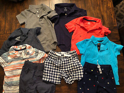 Toddler Boys Summer Clothes Lot Size 18 Months Carter's/Nautica/Jumping Beans