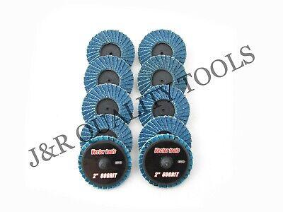 Vct 60 Grit 2 Roloc Sanding Flap Discs Zirconia 10pc