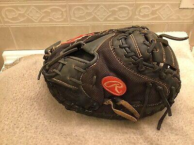 "Rawlings PROJP20M 32"" HOH Mesh Baseball Softball Catchers Mitt Right Hand Throw"