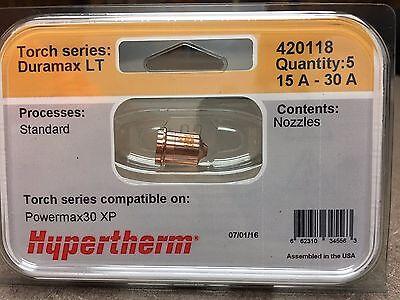 Genuine Hypertherm 420118 Nozzles Powermax 30 Xp Plasma 5 Pack Duramax Lt
