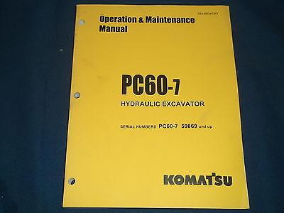 Komatsu Pc60-7 Excavator Operation Maintenance Book Manual